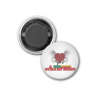 A Beninese Stole my Heart 1 Inch Round Magnet
