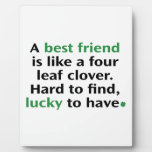 A Best Friend Is Like A Four Leaf Clover Plaques