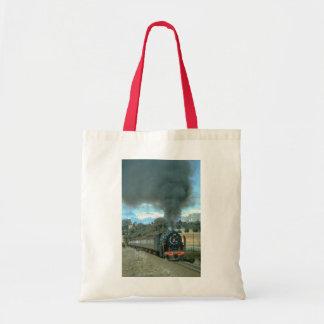 A Bethlehem to Bloemfontein train approaches Owant Canvas Bag