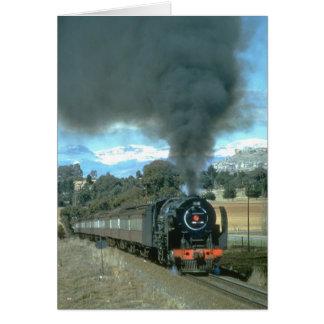 A Bethlehem to Bloemfontein train approaches Owant Card