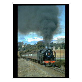 A Bethlehem to Bloemfontein train_Steam Trains Postcard
