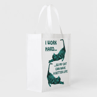 A Better Life For My Cat Reusable Totes Reusable Grocery Bag