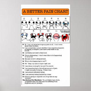 A Better Pain Chart at Zazzle