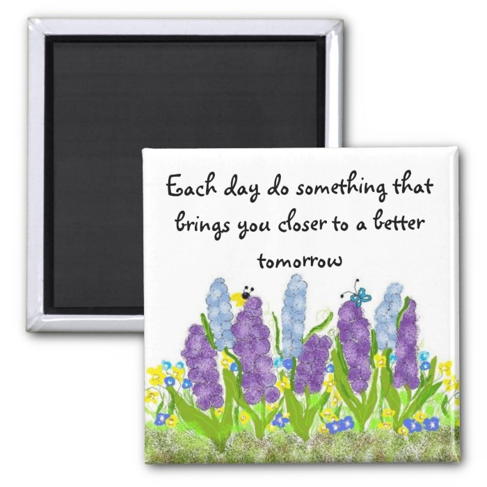 A Better Tomorrow 2 Inch Square Magnet