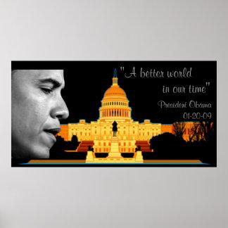 A Better World Obama Inauguration Speech Poster