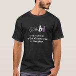 a+bi Complex Kinsey Number Ace Colors Dark T-shirt