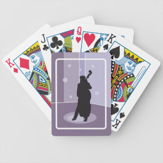 a bicycle playing cards