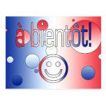 A Bientôt! French Flag Colors Pop Art Postcards
