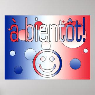 A Bientôt! French Flag Colors Pop Art Poster