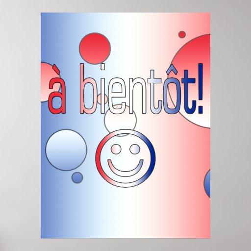 A Bientôt! French Flag Colors Pop Art Posters