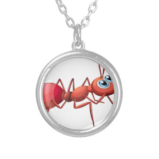 A big ant crawling round pendant necklace