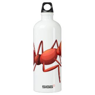 A big ant crawling SIGG traveler 1.0L water bottle
