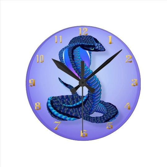 A Big Blue Snake Clock