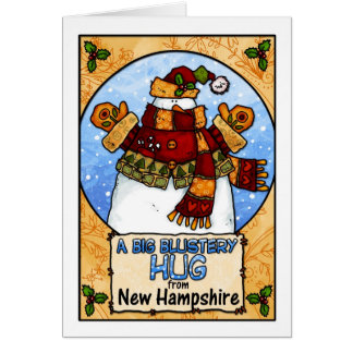 A Big Blustery Hug from New Hampshire Cards