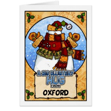 Christmas Themed A Big Blustery Hug from Oxford Card