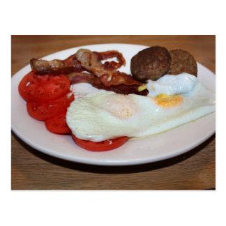 A Big Breakfast Postcard