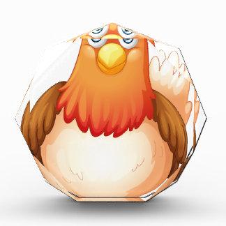 A big fat hen acrylic award