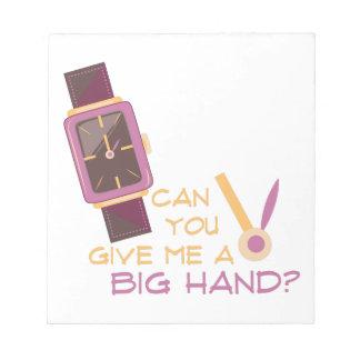 A Big Hand Notepad