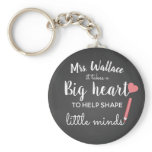 a big heart to teach little minds teacher fashion keychain