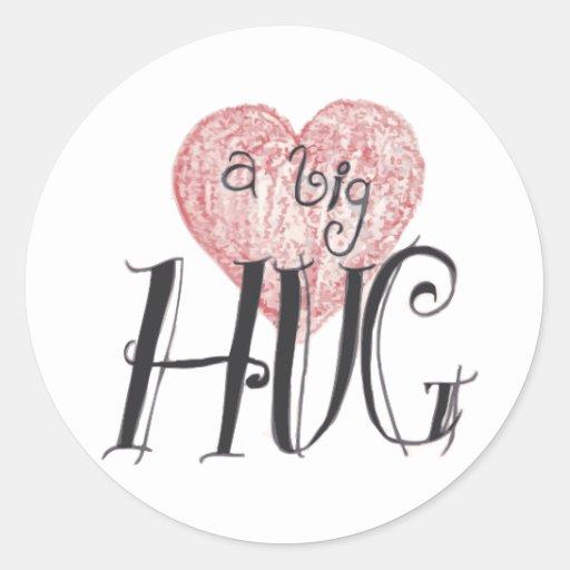 A Big Hug Classic Round Sticker