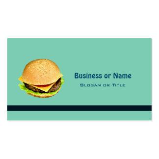A Big Juicy Cheeseburger Photo Business Card