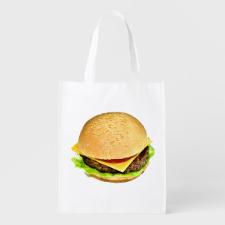 A Big Juicy Cheeseburger Photo Grocery Bag