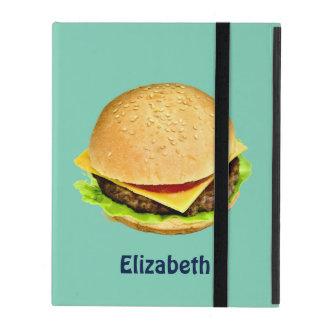 A Big Juicy Cheeseburger Photo Personalized iPad Case