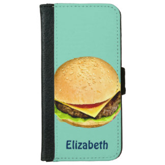 A Big Juicy Cheeseburger Photo Personalized Wallet Phone Case For iPhone 6/6s