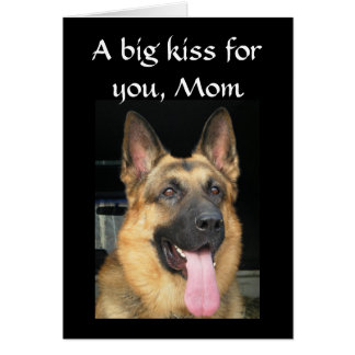 A BIG KISS ON MOTHER'S DAY GREETING CARD
