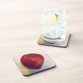 A Big Red Apple Drink Coaster