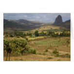 A big scenic view of a big rock mountain greeting card