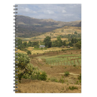 A big scenic view of a big rock mountain spiral note book