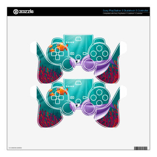 A big shark and three nemos under the sea PS3 controller decal