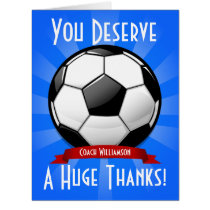 A Big Soccer Ball Giant Thank You Card