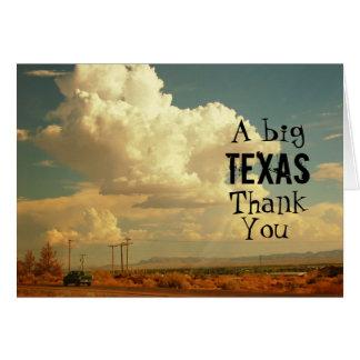 A Big Texas Thank You Card