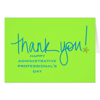 A Big Thank You to Administrative Professionals Card
