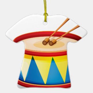 A big toy drum Double-Sided T-Shirt ceramic christmas ornament