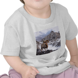A Bighorn Sheep looks into the valley Tshirts