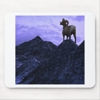 A Bighorn Sheep looks to the next mountain Mouse Pad
