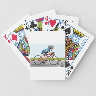 A bike racing bicycle playing cards