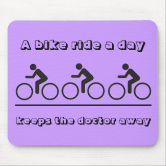 A bike ride a day mouse pad