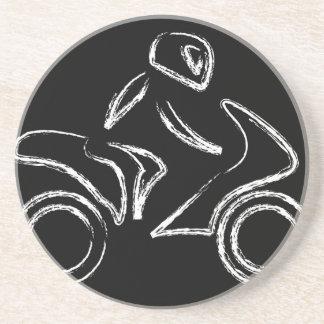 A biker on a motorbike coaster