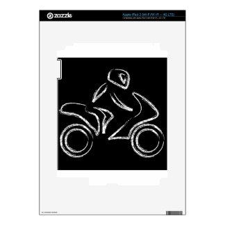 A biker on a motorbike iPad 3 skins