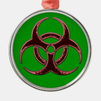 A Biohazard Christmas Metal Ornament