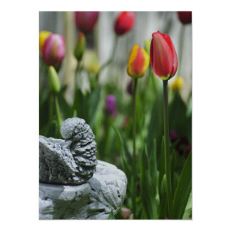 A Bird And A Tulip Card