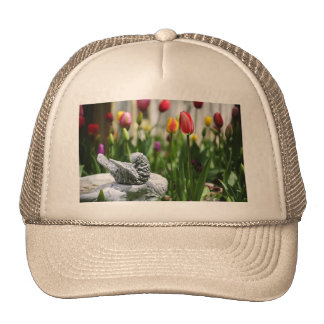 A Bird And A Tulip Trucker Hat
