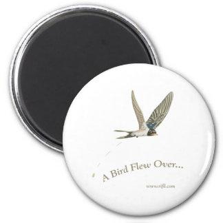 A-Bird-Flew-Over 2 Inch Round Magnet