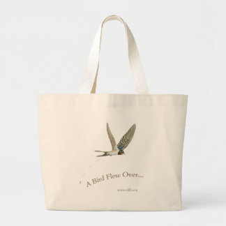 A-Bird-Flew-Over Jumbo Tote Bag