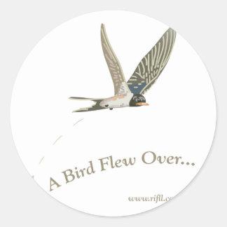 A-Bird-Flew-Over Classic Round Sticker