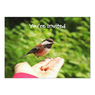 A Bird in the Hand 5x7 Paper Invitation Card